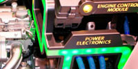 power electronics in an engine